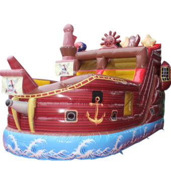 Piratenschiff Hüpfburg mit Rutsche kaufen